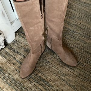 Franco Sarai artist collection suede leather boots